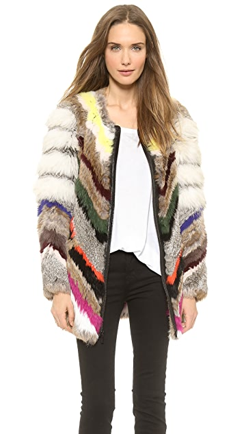 Elizabeth and James Tarra Multi Fur Coat