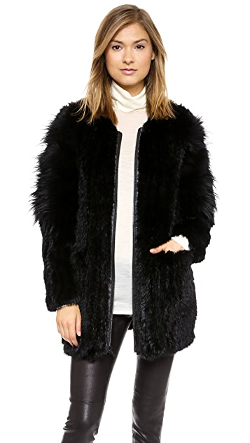 Elizabeth and James Tarra Solid Fur Coat