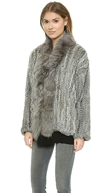 Elizabeth and James Bianca Fur Coat