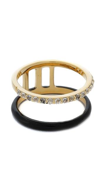 Elizabeth and James Dylan Enamel Band Ring
