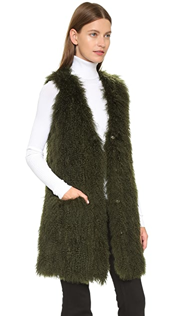 Elizabeth and James Beckett Fur Vest