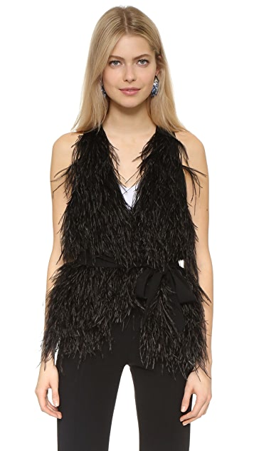 Elizabeth and James Xiomara Feather Vest