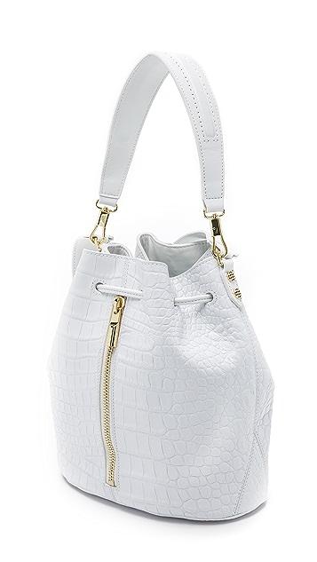 Elizabeth and James Croc Embossed Cynnie Bucket Bag