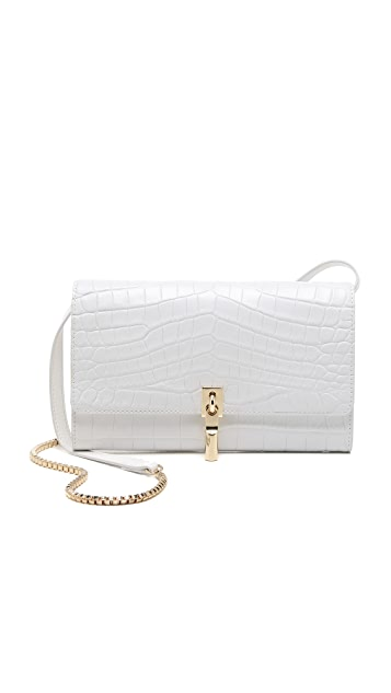 Elizabeth and James Croc Embossed Cynnie Wallet on a Chain