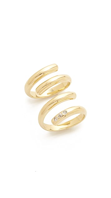 Elizabeth and James Pearce Twist Rings Set