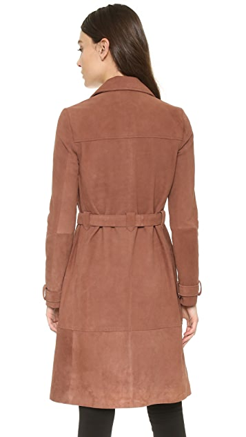 Elizabeth and James Whitley Suede Coat