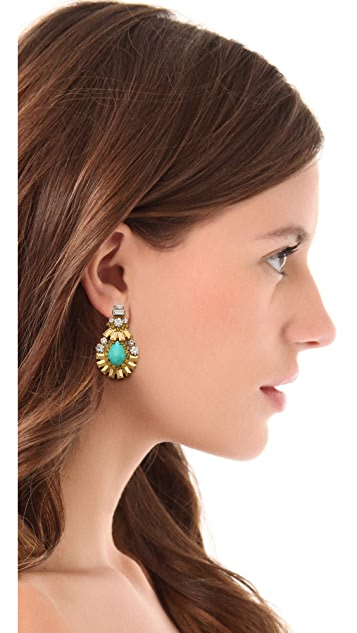 Elizabeth Cole Oval Drop Earrings