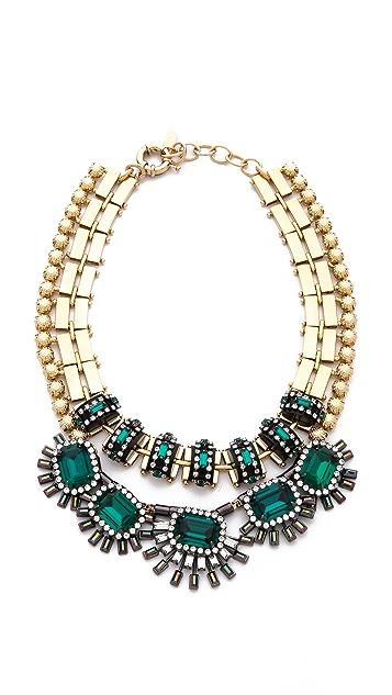 Elizabeth Cole Double Strand Collar Necklace