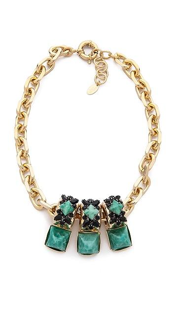 Elizabeth Cole Stone Station Necklace