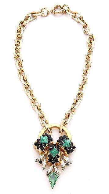 Elizabeth Cole Short Pendant Necklace