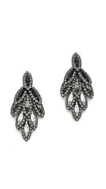 Elizabeth Cole Ombre Bacall Earrings