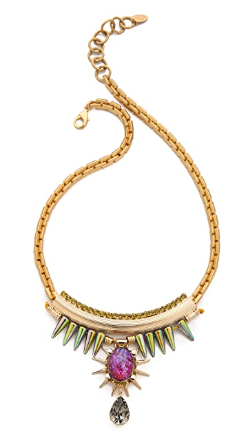 Elizabeth Cole Spike Crystal Necklace