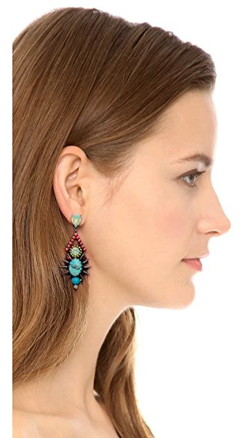 Elizabeth Cole Turquoise Drop Earrings