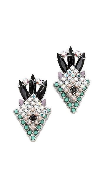 Elizabeth Cole Arrowhead Earrings