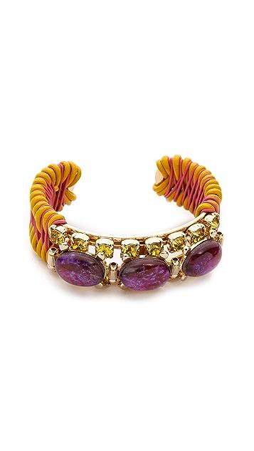 Elizabeth Cole Mexican Opal Cuff Bracelet