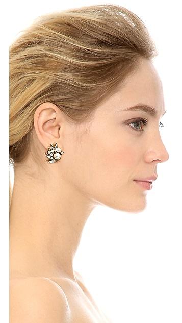 Elizabeth Cole Eyelet Earrings