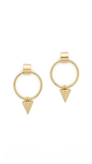 Elizabeth Cole Open Circle Earrings
