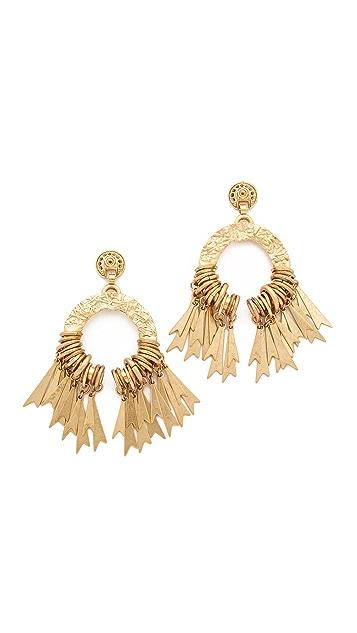 Elizabeth Cole Circle Fringe Earrings