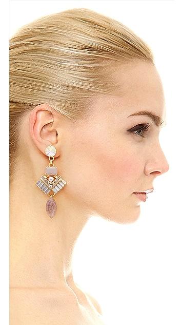 Elizabeth Cole Ocean Grey Stone Earrings