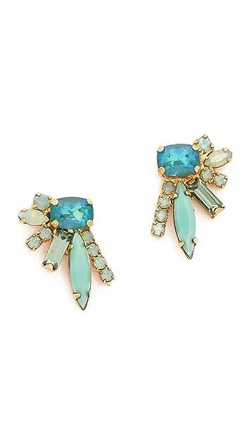 Elizabeth Cole Floating Stone Earrings