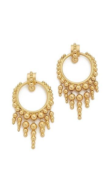 Elizabeth Cole Glowing Hoop Earrings