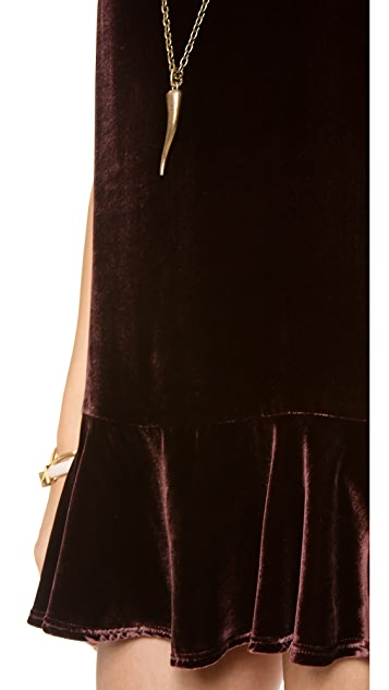 Elkin Basset Velvet Dress