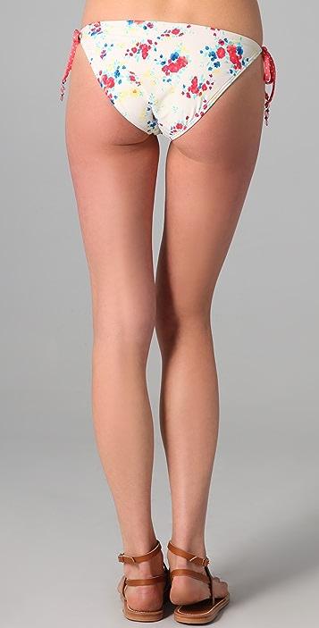 Ella Moss Flora Tie Side Bikini Bottoms