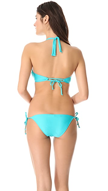 Ella Moss Solid Halter Bikini Top