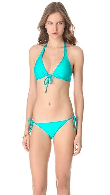 Ella Moss Solid Tie Side Bikini Bottoms