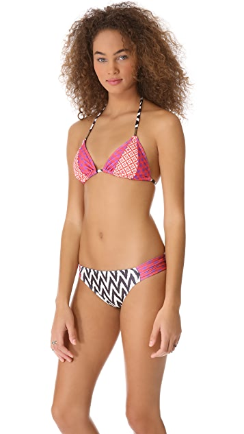 Ella Moss Sun Tile Triangle Bikini Top