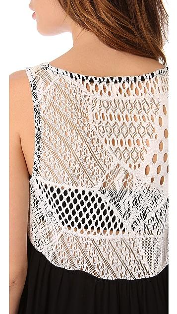 Ella Moss Lily Crochet Back Tank