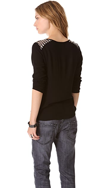 Ella Moss Piazza Long Sleeve Top