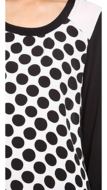 Ella Moss Polka Long Sleeve Top