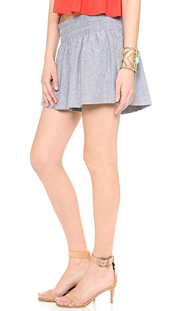 Ella Moss Tessa Chambray Mini Shorts