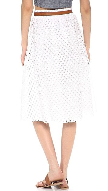 Ella Moss Tessa Eyelet Midi Skirt