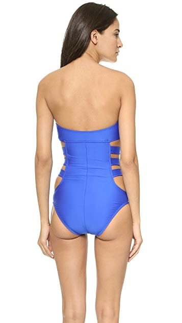 Ella Moss Solid One Piece Swimsuit