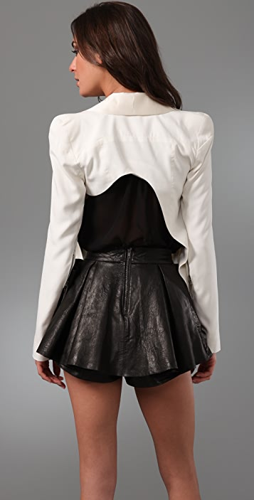 Ellery Taurus Asymmetrical Cut Away Blazer