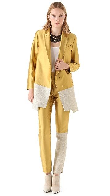 Ellery 3/4 Jacket with Spliced Hem