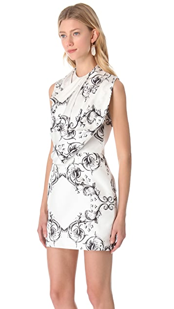 Ellery Sleeveless Drape Shift Dress