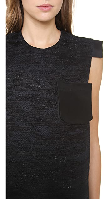 Ellery Shift Dress with Frayed Hem