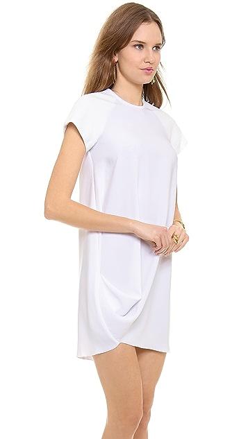 Ellery Drape Front Raglan Dress