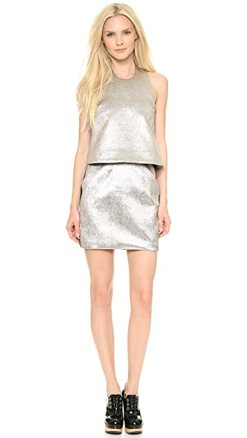 Ellery Halter Dress with Drop Waist & Miniskirt