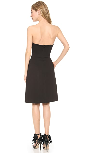 Ellery Strapless Dress with Bust Detail