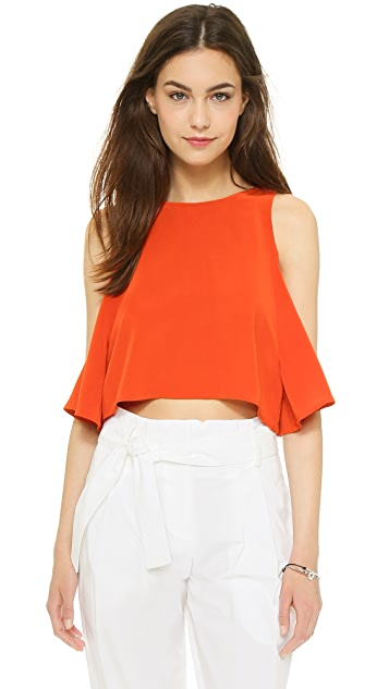 Elle Sasson Teresa Silk Crop Top