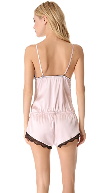 Else Lingerie Signature Lace Silk Romper