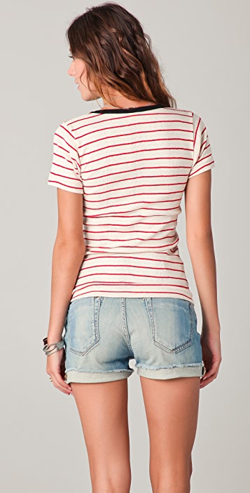 Edith A. Miller Scoop Neck Striped Tee