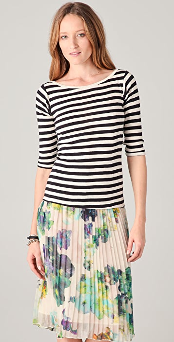 Edith A. Miller Striped Tee
