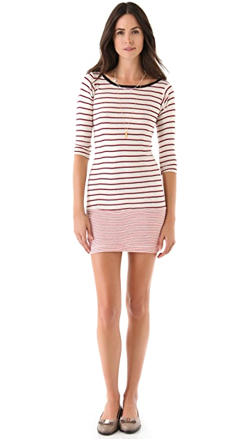 Edith A. Miller Drop Waist Boat Neck Dress