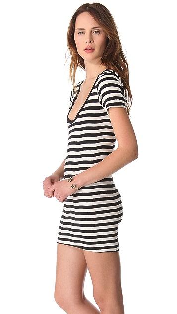 Edith A. Miller Scoop Neck Mini Dress