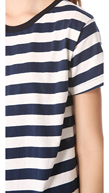 Edith A. Miller Jersey Striped Boyfriend Mini Dress